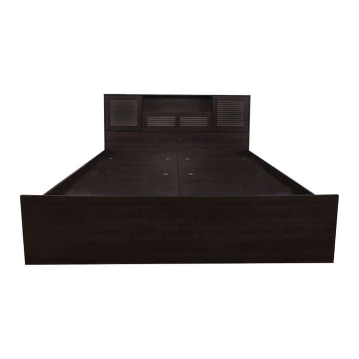 Bolton Queen Bed with Box Storage in Wenge Finish,Furniture