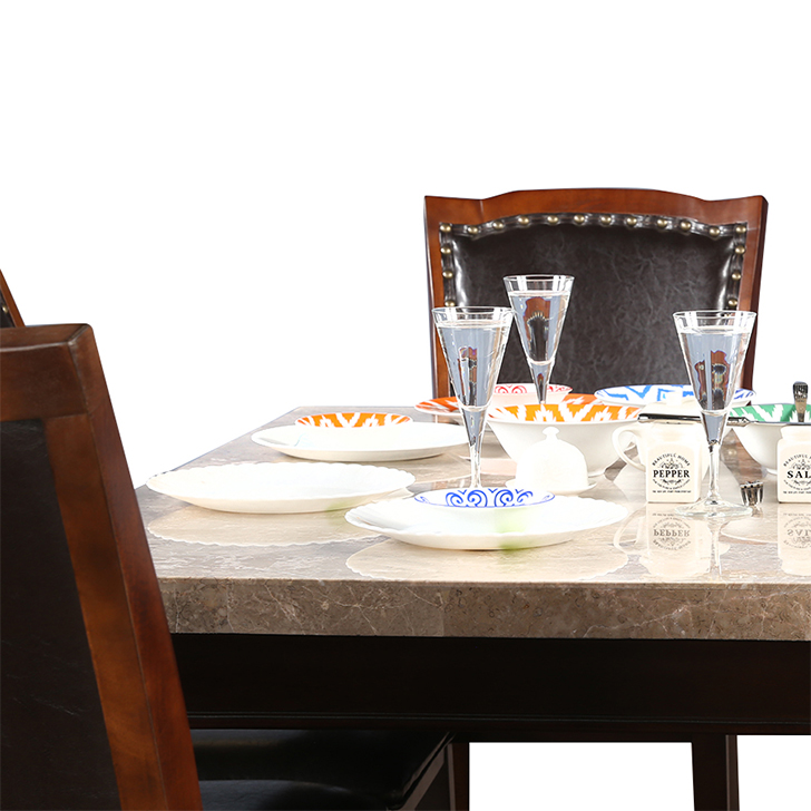 Bliss 8-Seater Marble Top Dining Table,8 Seater Dining Table