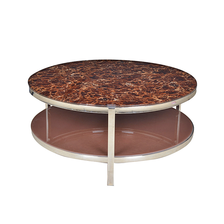 Troy Glass Top Centre Table in Brown Colour,Coffee Tables