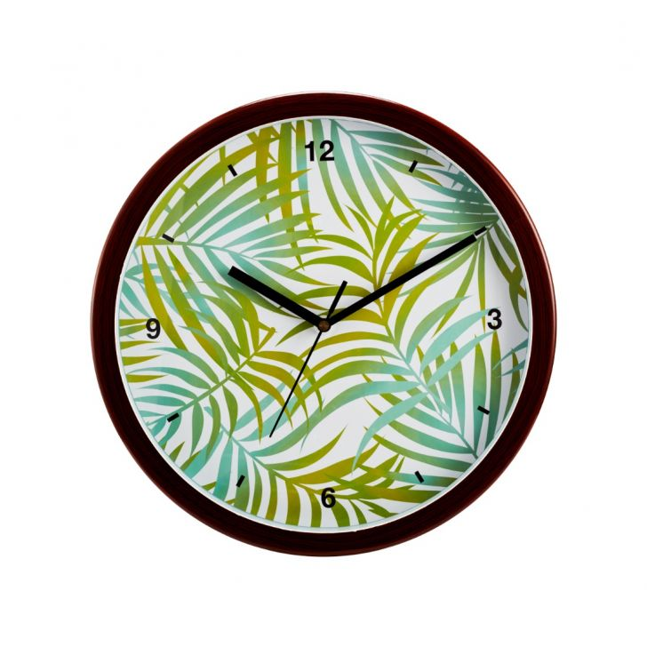 Aika Tropical Branch Palm Leaf Clock,Wall Clocks