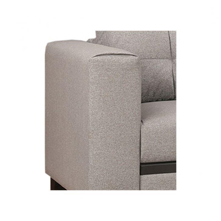Garcia Fabric Three Seater Sofa Grey,Three Seater Sofas