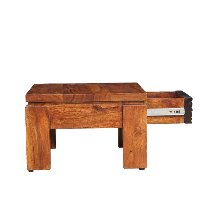 Leopold Solidwood Coffee Table in Brown Colour,Bedside Tables