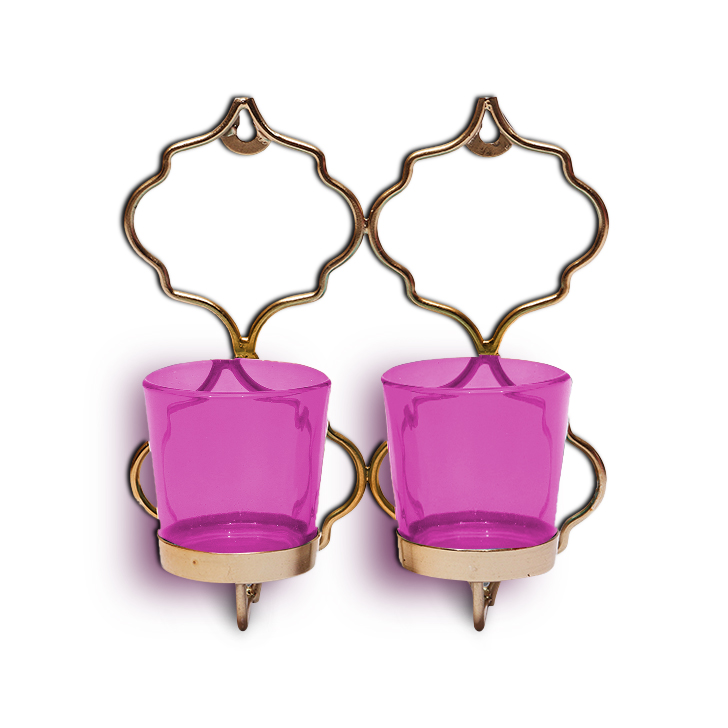 HomeTown Corona 2 Votive Hanging Candle Holder Pink,Candle Holders