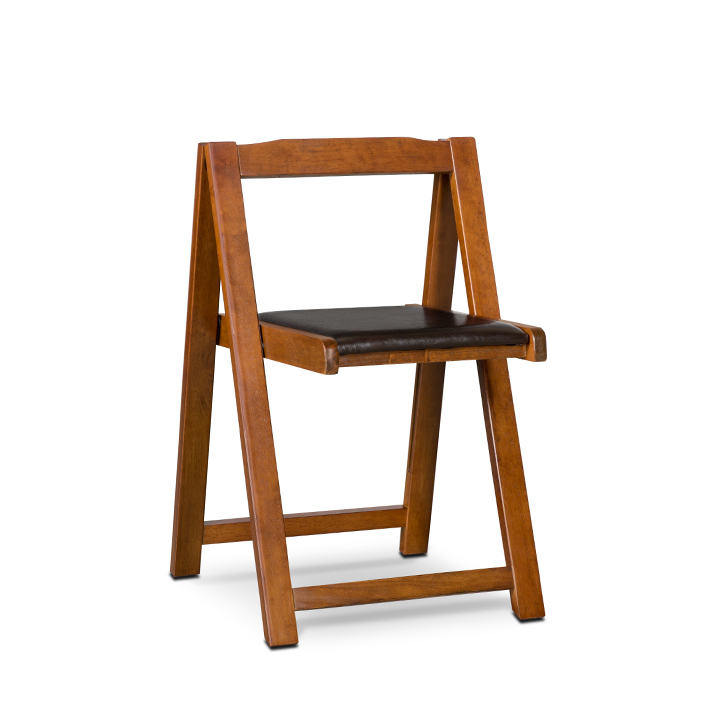 Compact Folding Chair 2 Pcs Black And Walnut,Dining Chairs