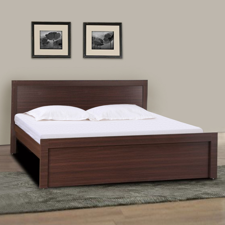 Dazzle King Bed in Walnut Finish,Furniture