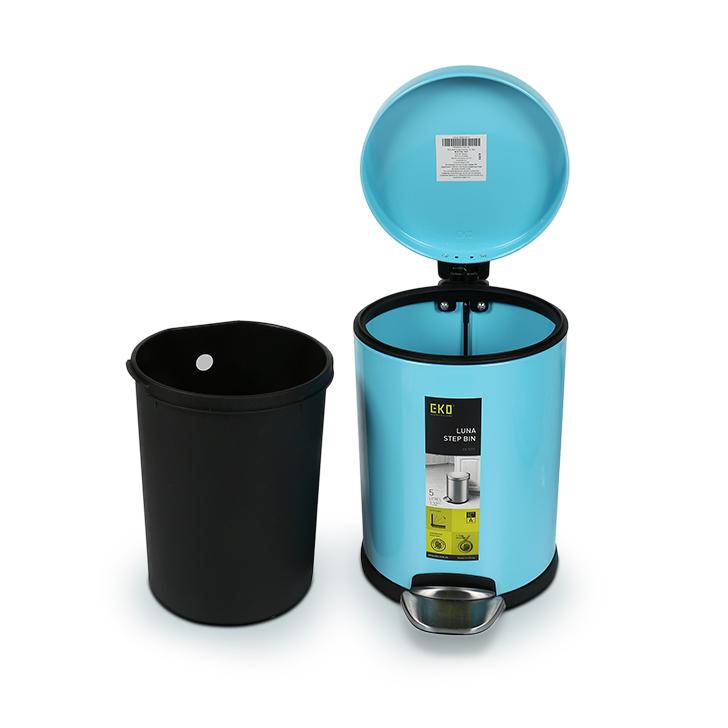 Living Essence Teal Blue Pedal Plastic Dustbin 5 Ltr,Dustbins