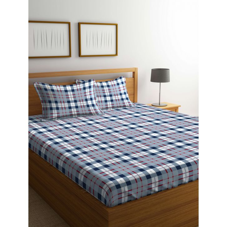 Portico Marvella Flannel Bedsheet Multicolour,Double Bed Sheets