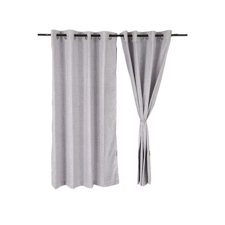 Amour Window Curtain Grey Set of 2,Window Curtains