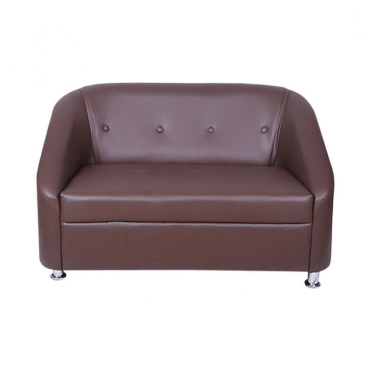 Belfast Leatherette Two Seater Sofa Brown,Furniture