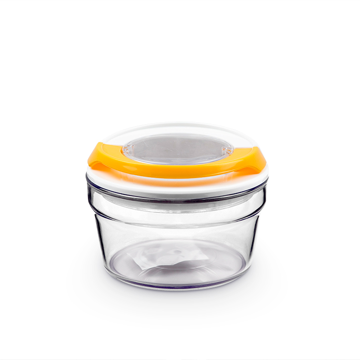 Living Essence SGH Clip Jar Round 350 ml,Containers