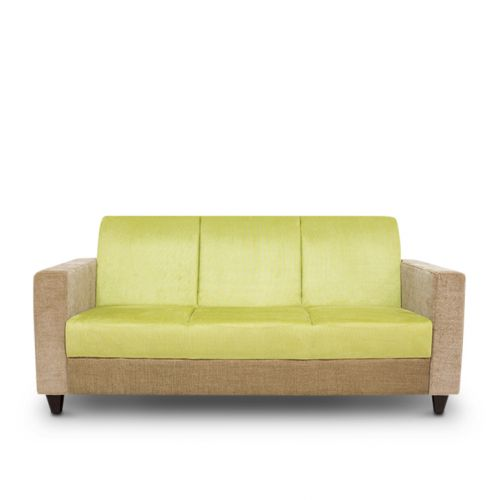Ciaz Solid Wood Three Seater Sofa In Green Colour By HomeTown