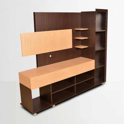 Buy Greta Wall Unit Teak Online In India Ho340fu07gloindfur