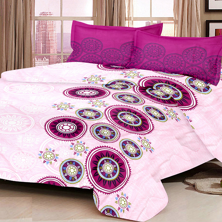 Eden Traditional Cotton Bed In A Bag Purple,Double Bed Sheets