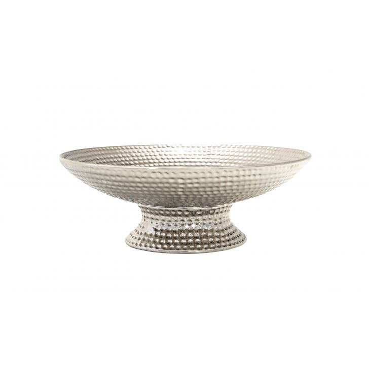 Sterling Hammered Platter With Stand,Home Accents