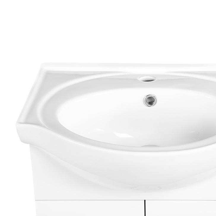 Convex PVC And Ceramic Vanity White,PVC Vanity