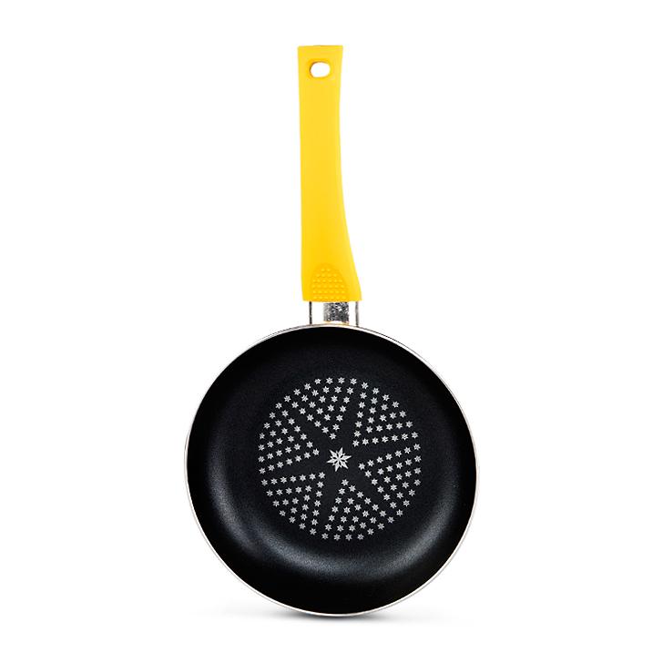 Living Essence Diamond 26 cm Fry Pan Yellow,Kitchenware