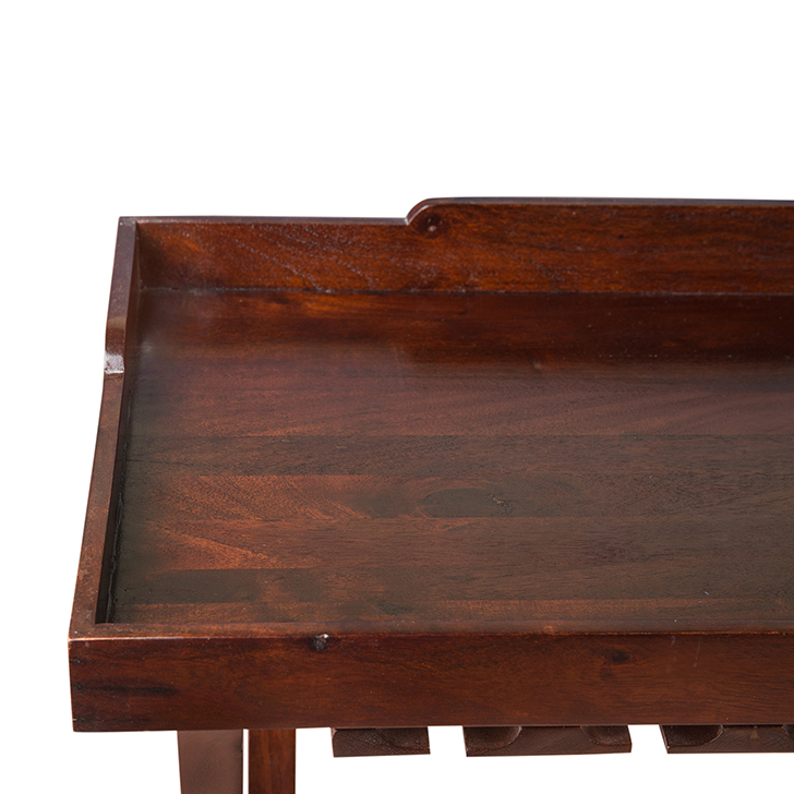 Emilia Folding Wine Tray in Chestnut Finish,Bar Trolleys
