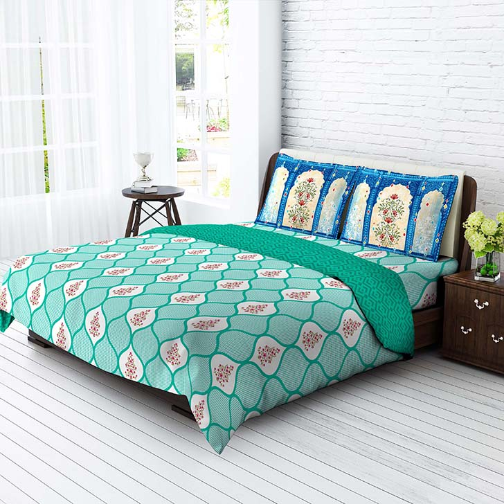 Awesome Tangerine Desi Beats Window California King Bed Sheet Set Aqua,Double Bed  Sheets