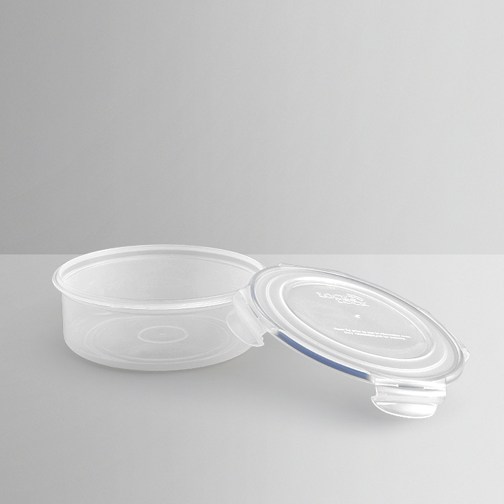 Lock & Lock White Round Container,Containers