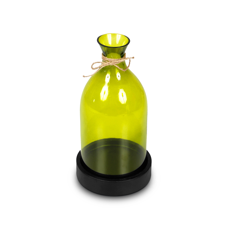 HomeTown Vibgyor Green Candle Holder,Candle Holders