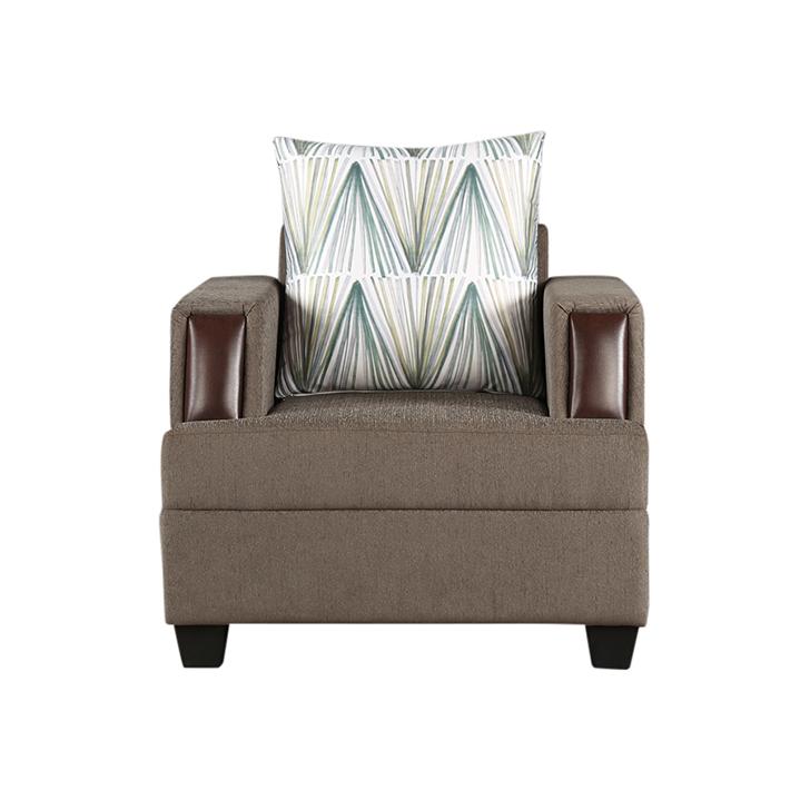 Elanza Royale Fab Single Seater Sofa Olive,Living Room Furniture