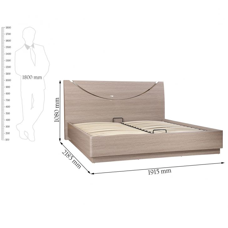 Alexandria High Gloss King Bed,All Beds