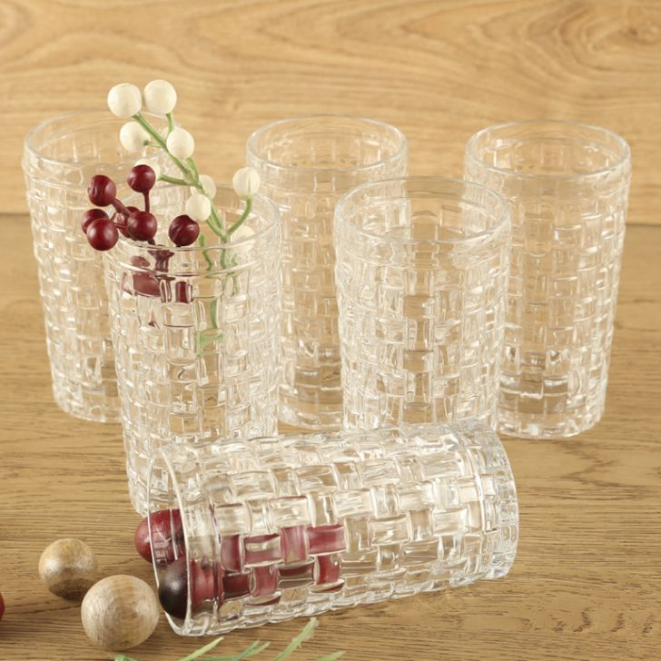 Living Essence Woven Clair Water TumbLiving Essencer Set Of 6,Drinkware