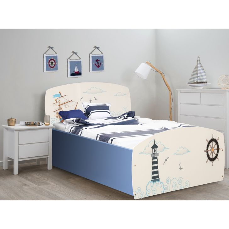 Noah Single Bed With Box Storage,All Beds