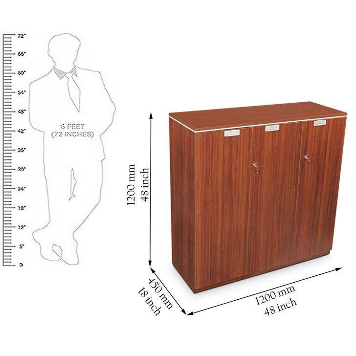 Nova Mid Height Book Case Walnut,Magazine & File Racks