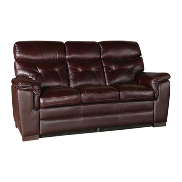 Buy Bradley Half Leather Three Seater Sofa Online In India