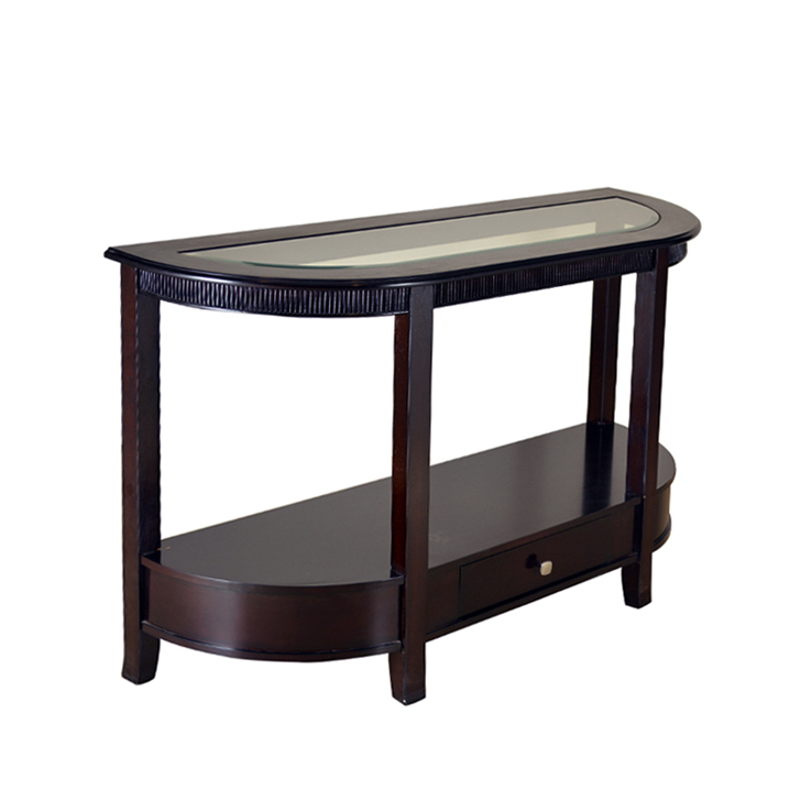 Zina Solidwood Console Table in Brown Colour,Coffee Tables