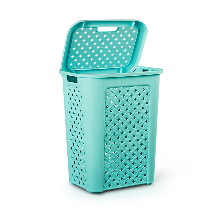 Living Essence Laundry Basket Teal,Laundry Baskets
