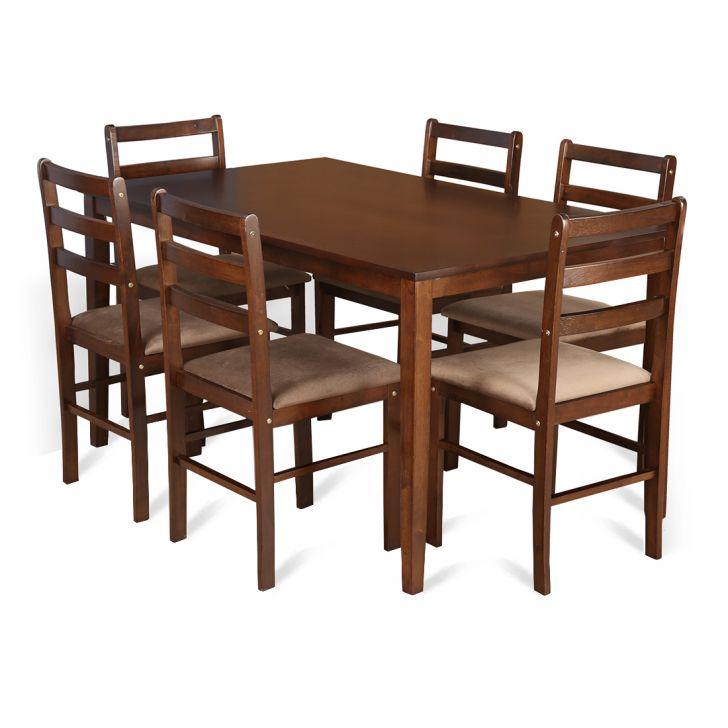 Magix Six Seater Dining Set in Dark Walnut Finish,All Dining Sets