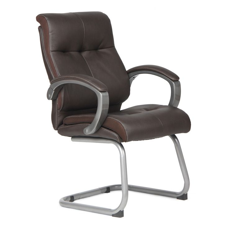 Hugo Leatherite Visitors Chair Brown,Chairs