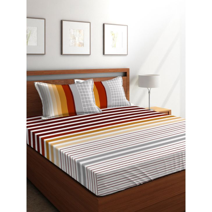 King Bedsheet French Gold Desert Safari Brown,King Size Bed Sheets