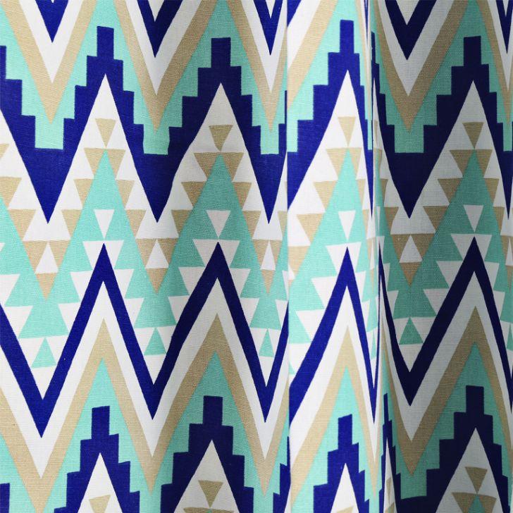 Living Essence window Curtain  Rio Chevron Blue,Curtains