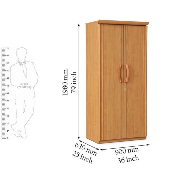 Sylas Two Door Wardrobe Beige,2 Door Wardrobes