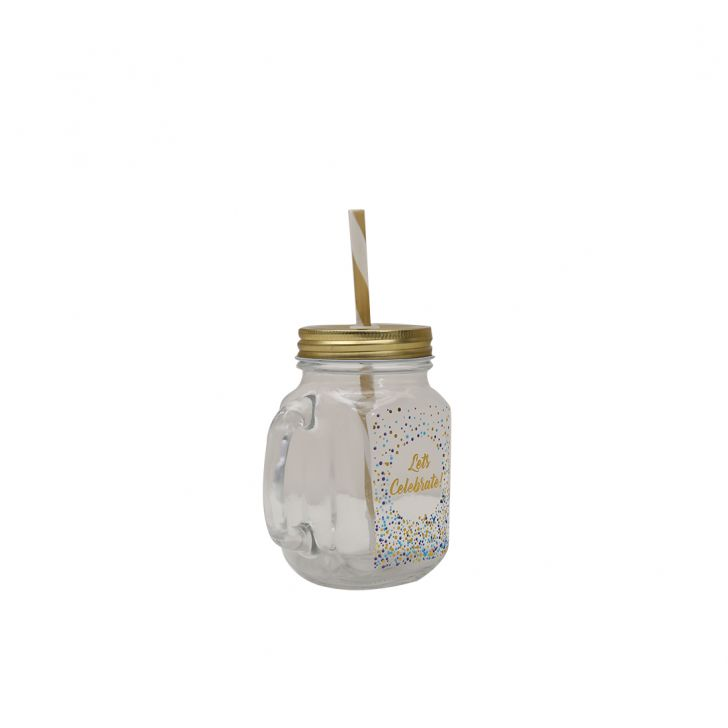 Cebration Mason Jars Set Of Four With Stand,Mason Jars