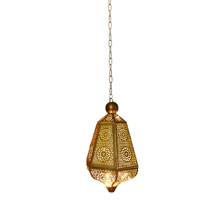 Izna Nageen Hanging Lantern Brass/Antique,Lamps & Lighting