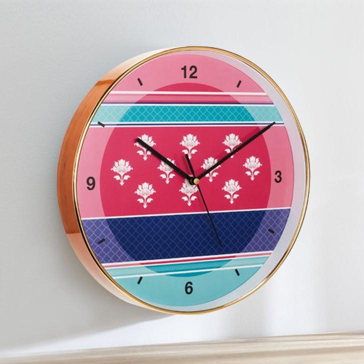 Aika Eclectic Folk Motive Clock,Wall Clocks