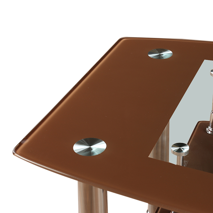 Ben Glass Top Center Table Brown,Living Room Furniture