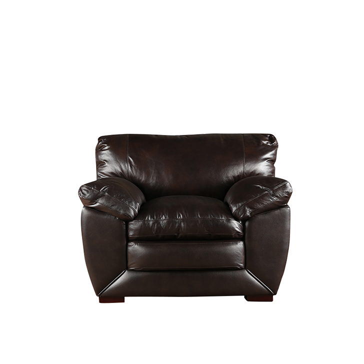 Lincoln Half Leather Single Seater Sofa,All Sofas