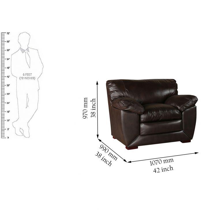 Lincoln Half Leather Single Seater Sofa,Living Room Furniture