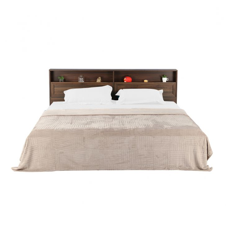 Fleece Blanket 240X220 Checks Grey,Quilts/Blankets
