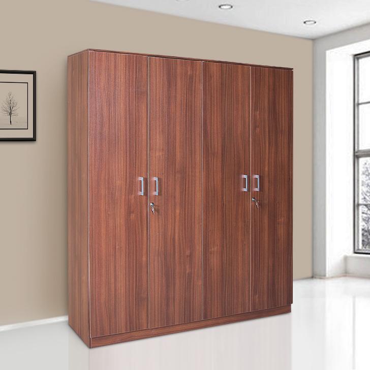 Premier Four Door Wardrobe Walnut,4 Door Wardrobes