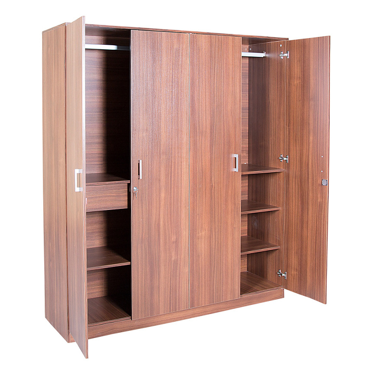 Premier Four Door Wardrobe in Regato Walnut Colour,All Wardrobes