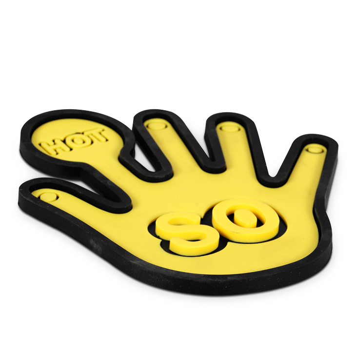 Living Essence Hand Shape Trivet Yellow,Kitchenware