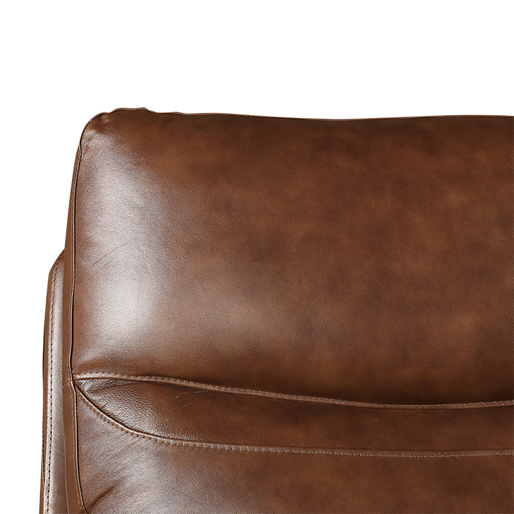 Lopez Half Leather Three Seater Recliner,Recliners