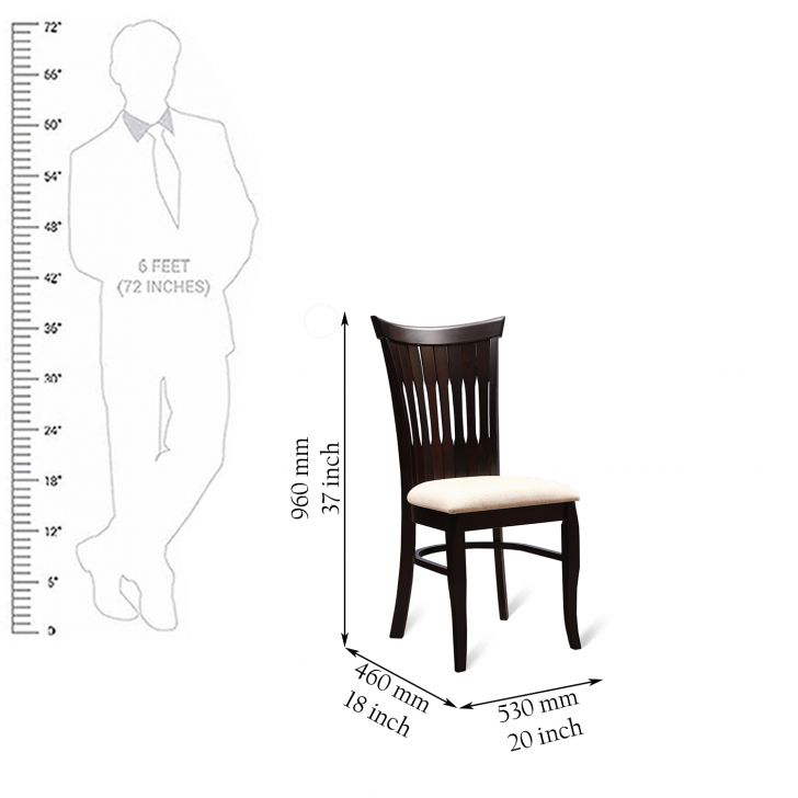 Cardiff Dining Chair (Set of 2) in Maroon Colour,Dining Chairs
