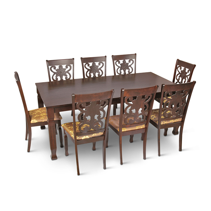 Victoria Eight Seater Dining Set in Brown Colour,All Dining Sets